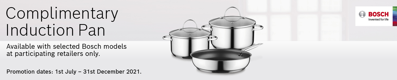 Complimentary Bosch Induction Pan