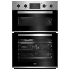 Beko CDFY22309X Built-in Electric Double Oven - Stainless Steel