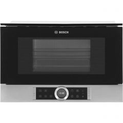 Bosch Serie 8 BEL634GS1B Built In Microwave With Grill, Brushed Steel