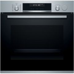 Bosch HRS538BS6B Serie 6 Electric Single Oven With Added Steam, Stainless Steel