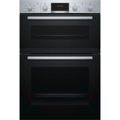 Bosch Serie 2 MBS133BR0B Built In Electric Double Oven, Stainless Steel