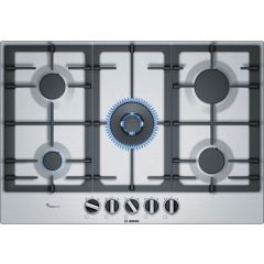 BOSCH Serie 6 PCQ7A5B90 Gas Hob, Stainless Steel