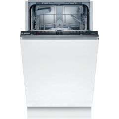 Bosch Serie 2 SPV2HKX39G Integrated Slimline Dishwasher with Home Connect, A+ Energy Rating, White