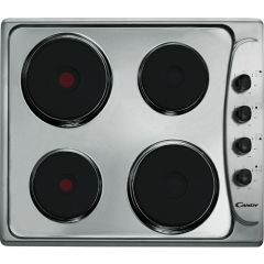 CANDY CLE64X Electric Solid Plate Hob, Stainless Steel