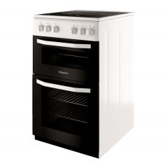 Hotpoint HD5V92KCW 50cm Electric Ceramic Cooker, White