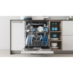 Indesit DIE 2B19 UK Built In Fully Integrated Dishwasher, White