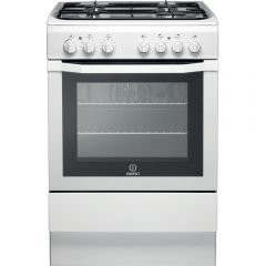 Indesit I6GG1(W)/UK Smart 60Cm Single Oven Gas Cooker- Full Glass Door