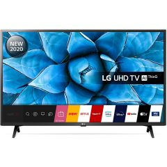 LG 43UN73006LC LED HDR 4K Ultra HD Smart TV, 43 inch with Freeview HD/Freesat HD, Ceramic Black