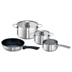 Neff Z9442X0 Set Of 3 Pots and 1 Pan For Induction Hob, Stainless Steel