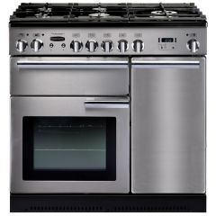 Rangemaster PROP90DFFSS/C Professional Plus 90cm Dual Fuel Range Cooker, stainless steel