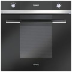 Smeg SFP109N Pyrolytic Single Electric Oven, Black