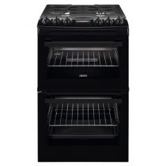 Zanussi ZCG43250BA 55cm Gas Cooker with Full Width Electric Grill