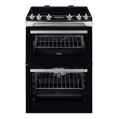 Zanussi ZCI66288XA ZCI66278XA 60cm Electric Double Oven with Induction Hob Black and Stainless Steel