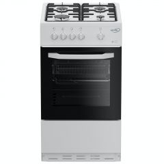Zenith ZE501W 50cm Single Oven Gas Cooker with Gas Hob, White