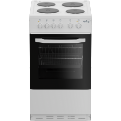 Zenith ZE503W 50Cm Single Oven Electric Cooker With Ceramic Hob A Energy Rated